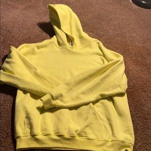 Gilden neon yellow hoodie